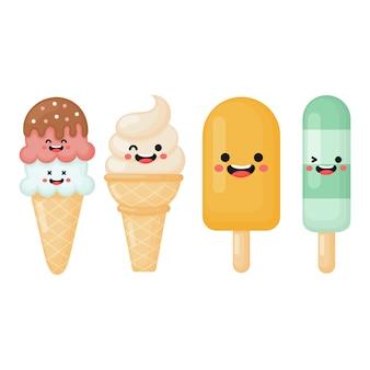 Colección de helados