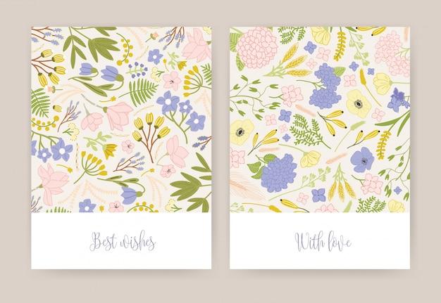 Colección de hermosas tarjetas de felicitación de cumpleaños