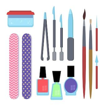 Colección de herramientas de manicura