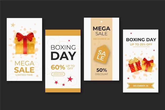 Colección de historias de boxing day ig