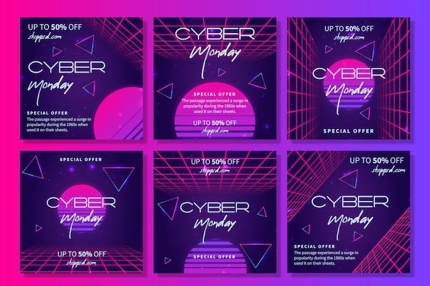 Colección de historias de cyber monday ig