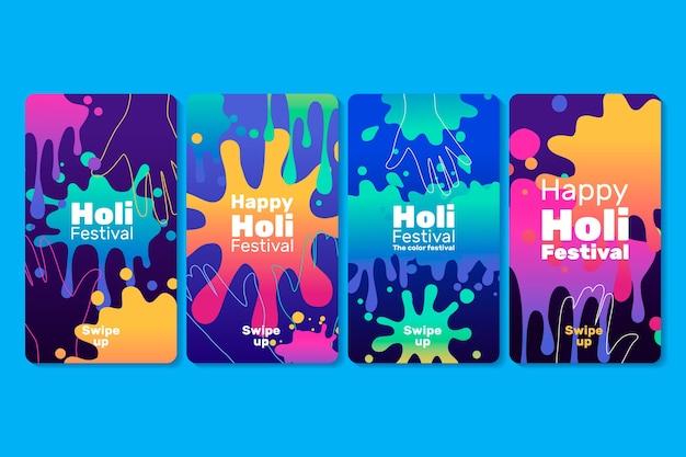 Colección de historias de holi instagram