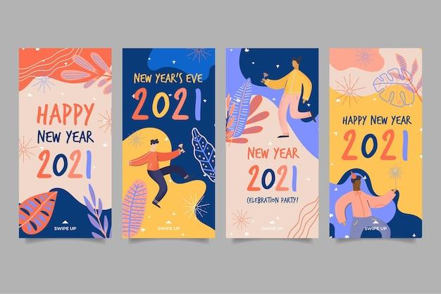 Colección de historias de ig de año nuevo 2021