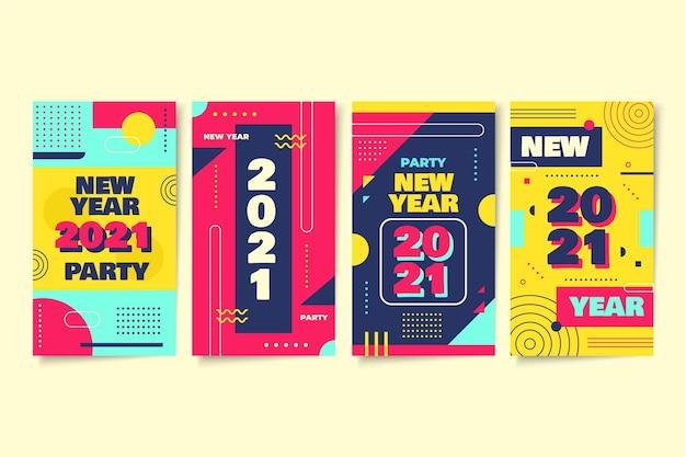 Colección de historias de instagram de año nuevo 2021