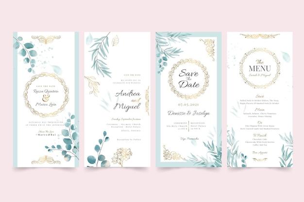 Colección de historias de instagram de bodas