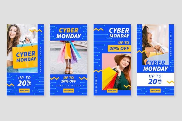 Colección de historias de instagram de cyber monday