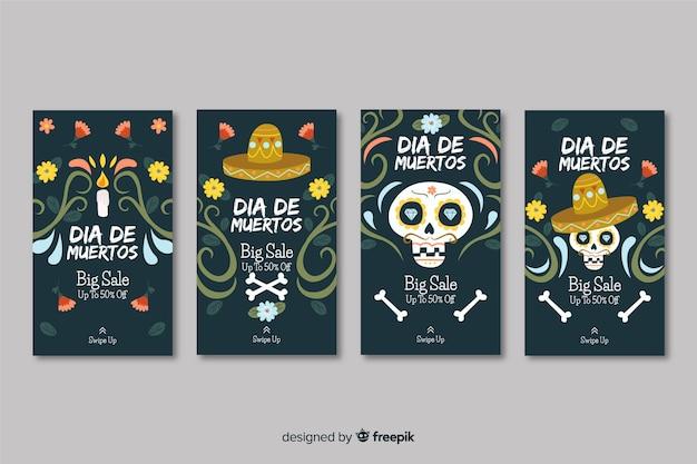 Colección de historias de instagram día de los muertos