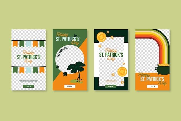 Colección de historias de instagram del día de san patricio