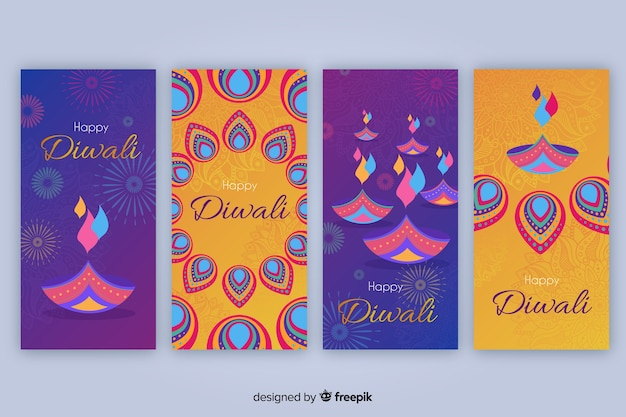 Colección de historias de instagram de diwali