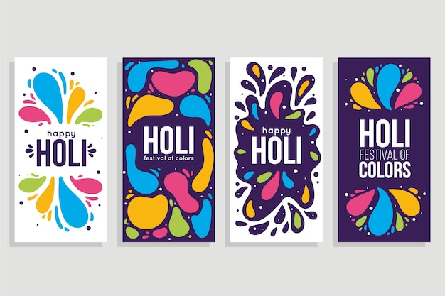 Colección de historias de instagram festival holi