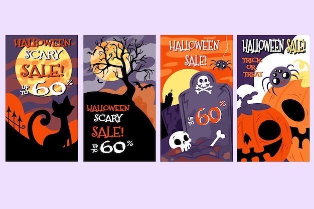 Colección de historias de instagram de halloween boo