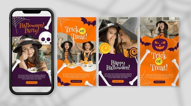 Colección de historias de instagram de halloween