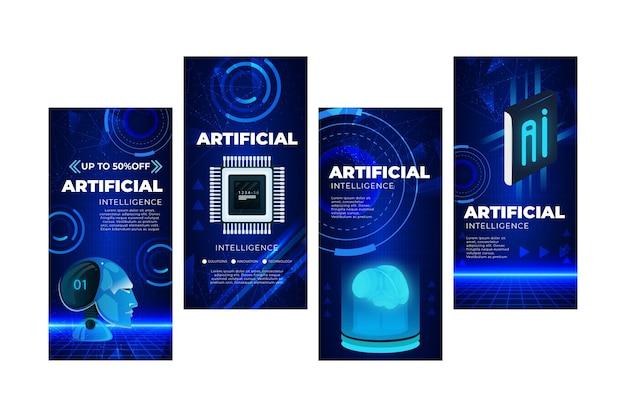 Colección de historias de instagram de inteligencia artificial
