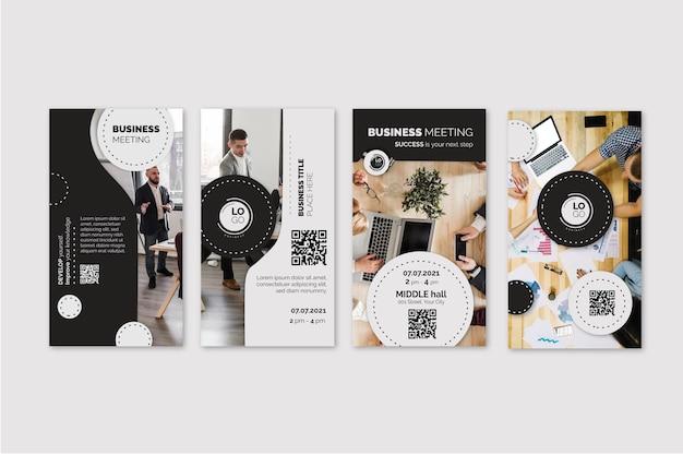 Colección de historias de instagram de negocios generales