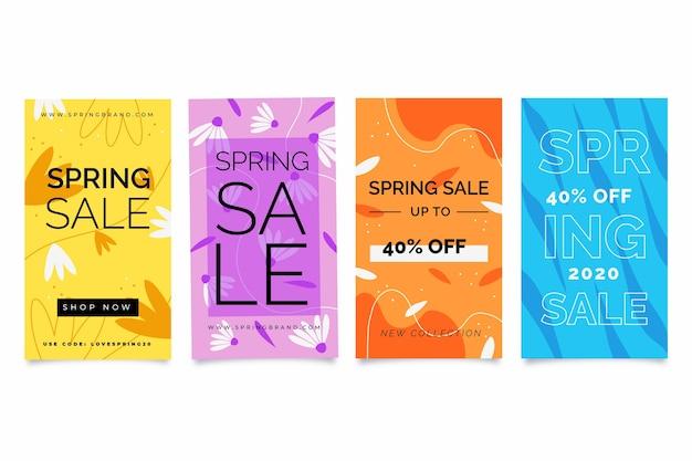 Colección de historias de instagram con rebajas de primavera