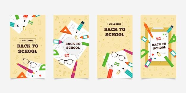 Colección de historias de instagram de regreso a la escuela