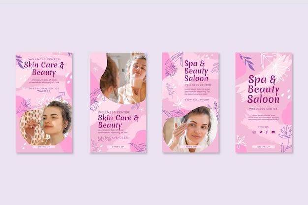 Colección de historias de instagram de salón de belleza