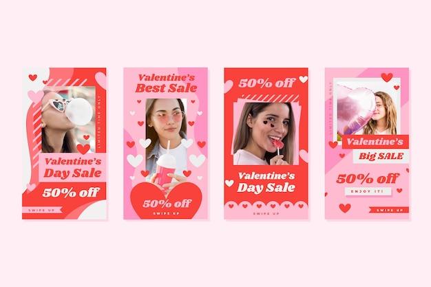 Colección de historias de instagram de san valentín