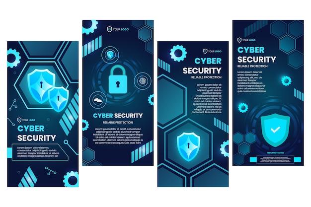 Colección de historias de instagram de seguridad cibernética