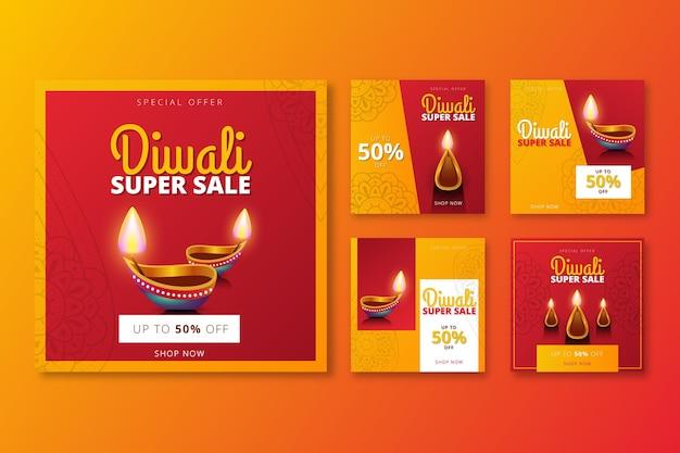 Colección de historias de instagram de venta de eventos de diwali