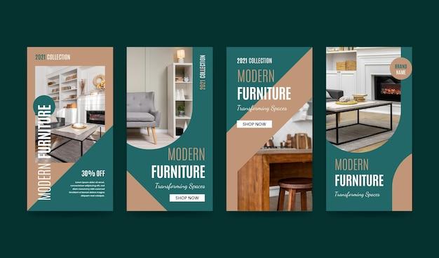 Colección de historias de instagram de venta de muebles planos
