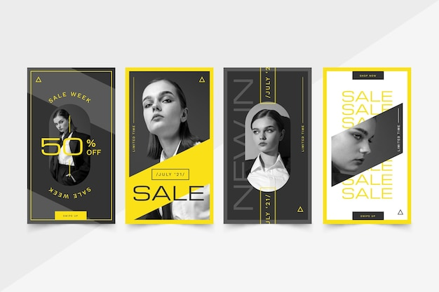 Colección de historias de instagram de venta plana