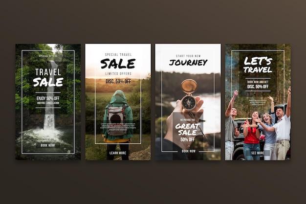 Colección de historias de instagram de venta de viajes