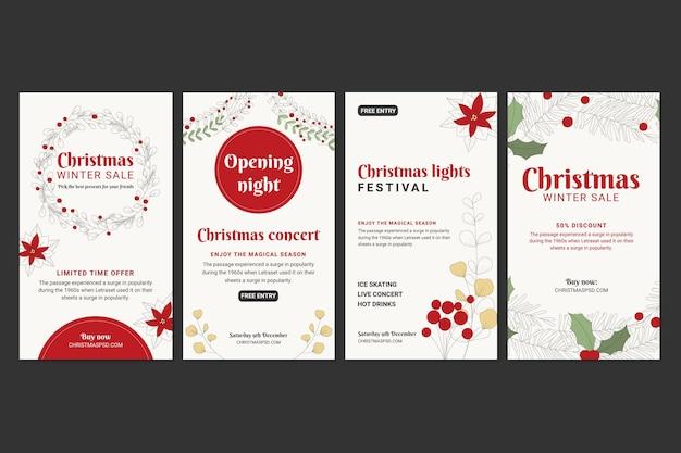 Colección de historias de instagram de ventas navideñas