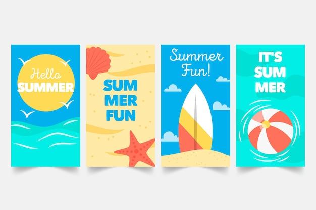 Colección de historias de instagram de verano