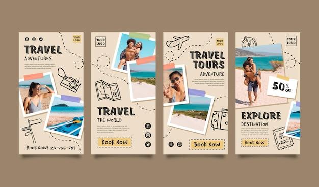 Colección de historias de instagram de viajes