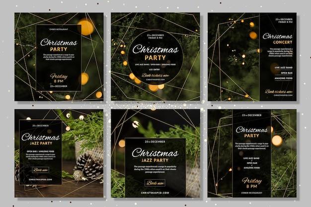 Colección de historias navideñas de instagram