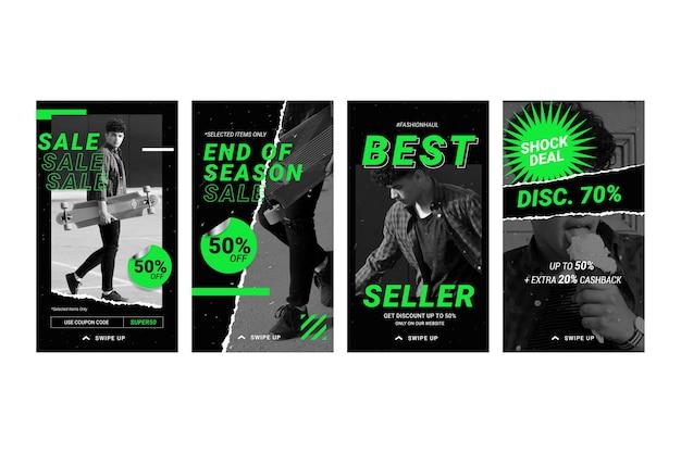 Colección de historias de venta de instagram