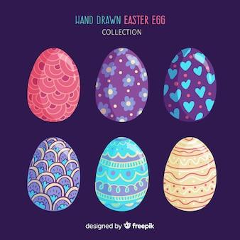 Colección de huevos del día de pascua