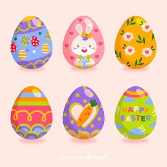 Colección huevos de pascua coloridos