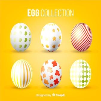 Colección de huevos de pascua realista