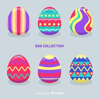 Colección huevos planos día de pascua