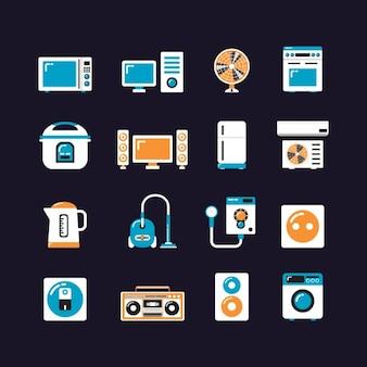 Colección de iconos de aparatos del hogar