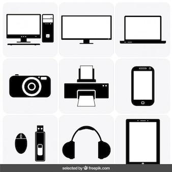 Colección de los iconos de aparatos
