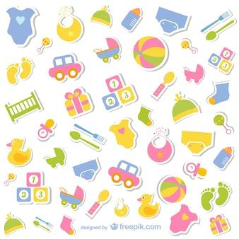 Colección de iconos de bebé