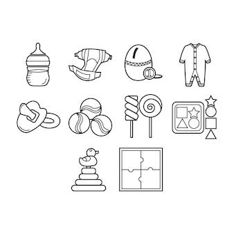 Colección de iconos de bebés