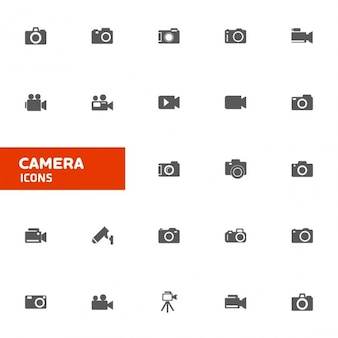 Colección de iconos de cámara