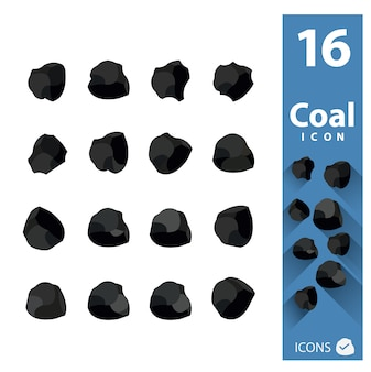 Colección de iconos de carbón