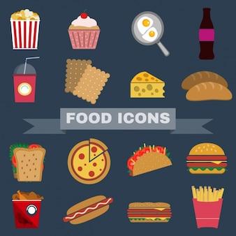 Colección de iconos de comida