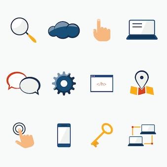 Colección de iconos de conectividad