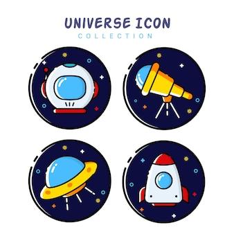 Colección de iconos de espacio universo