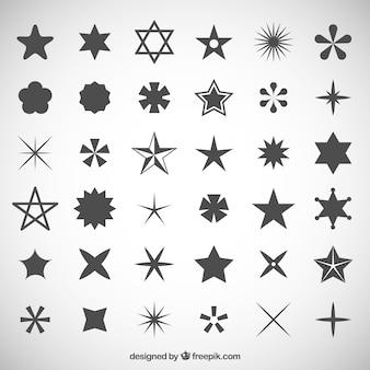Colección de los iconos de estrellas