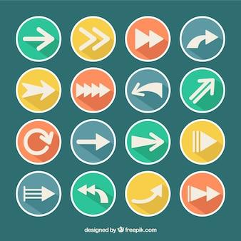 Colección de iconos de flecha vector gratuito