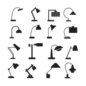 Colección de iconos de lámparas