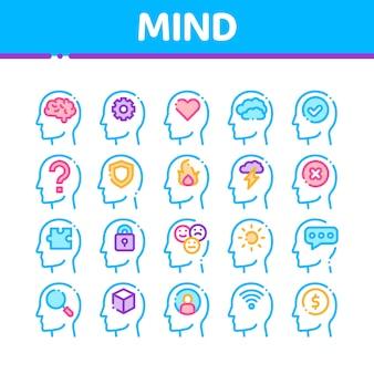 Colección de iconos de la mente