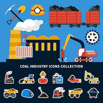 Colección de iconos de minería